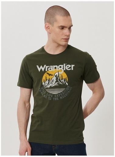 Wrangler Wrangler W211919801_Logo T-shirt  Haki